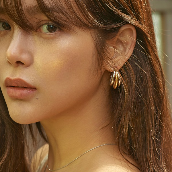 mzuu#[mzuu] Flow Triple Hoop Earrings_MX9XX0820