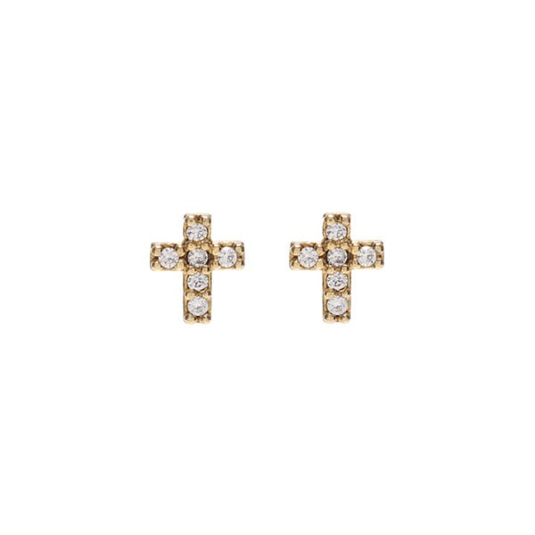 mzuu#[mzuu] Dreamer Mini Cross Earrings_MX0XA0290 (골드)
