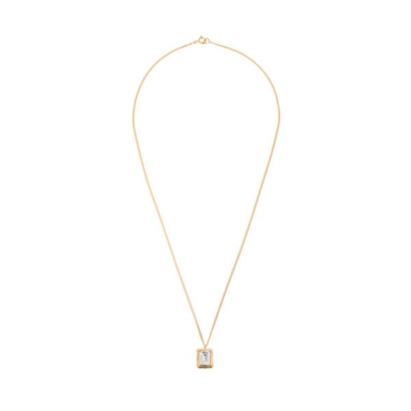 mzuu#[mzuu] 1930 Frame Crystal Necklace_MX0XB0240 (골드)