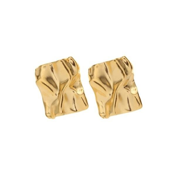mzuu#[mzuu] Flow Small Wave Square Earrings_MX9XX0790